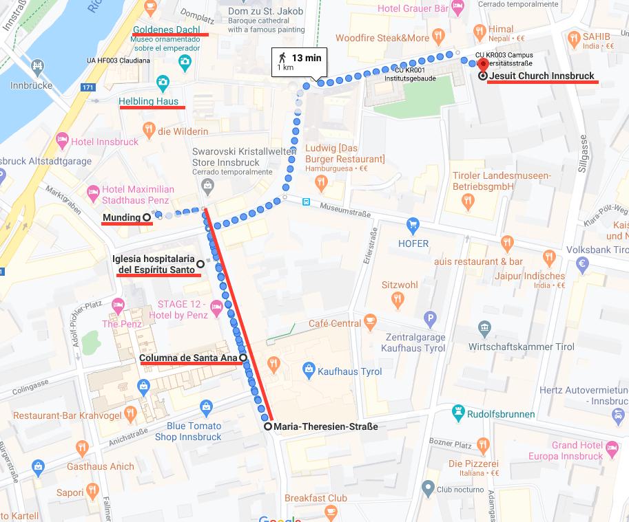 Mapa de Innsbruck