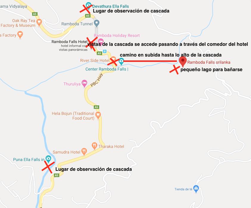 Mapa-Cascadas-Nuwara-Eliya