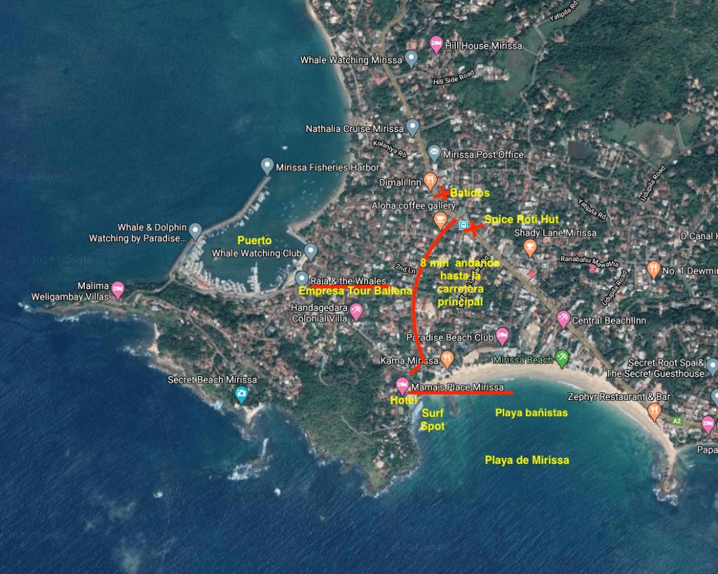 Mapa Mirissa