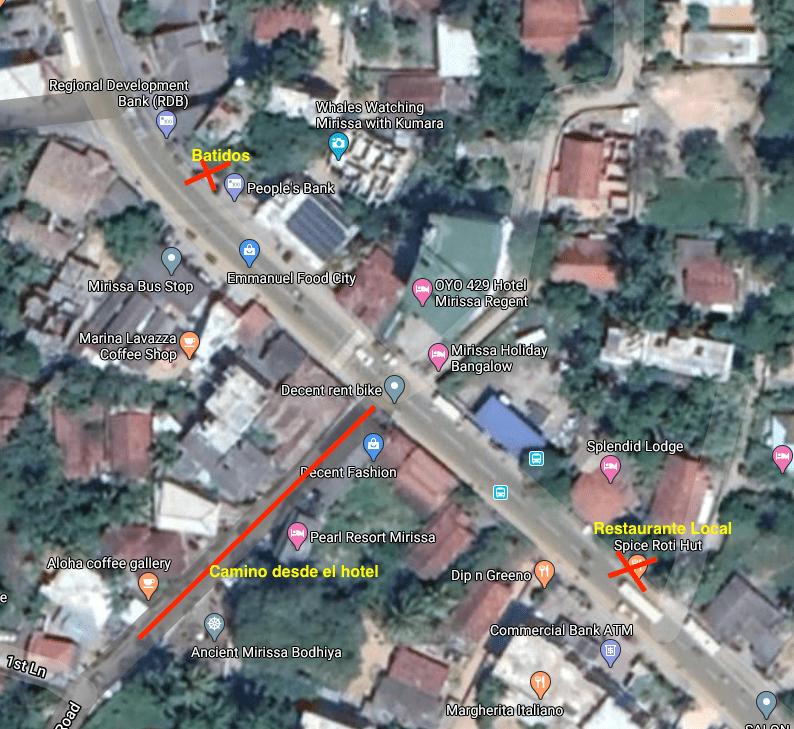 Mapa detalle Mirissa