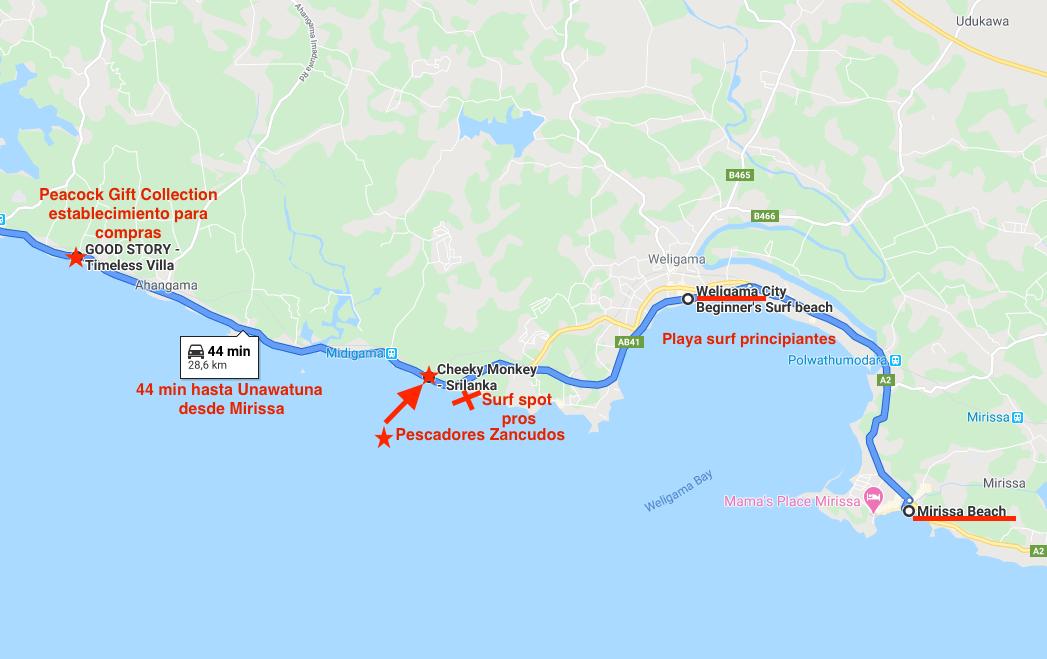 Mapa localización pescadores zancudos.