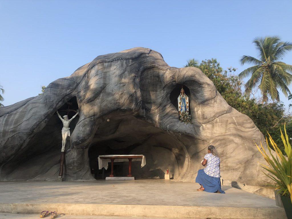 Virgen de Lourdes. Iglesia de Sant Francis. Negombo