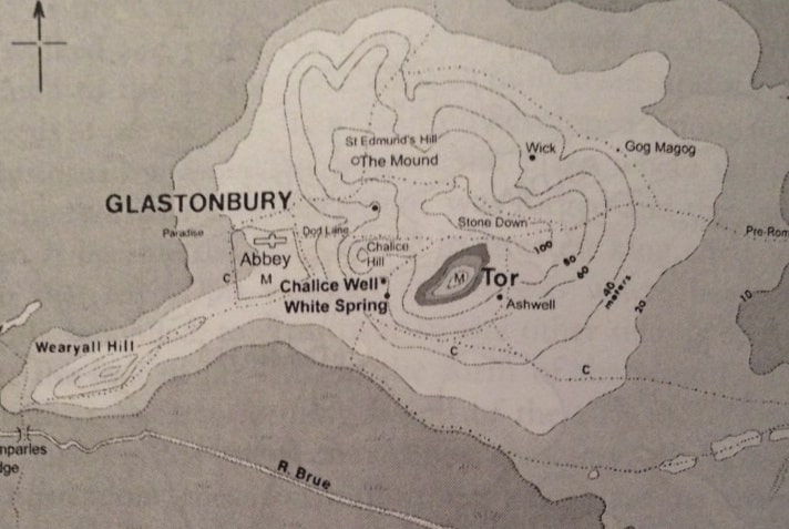 Mapa de Glastonbury