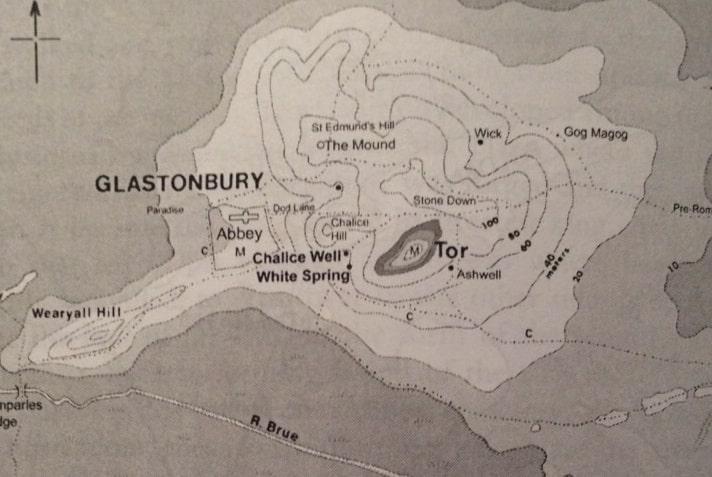 Mapa de Glastonbury