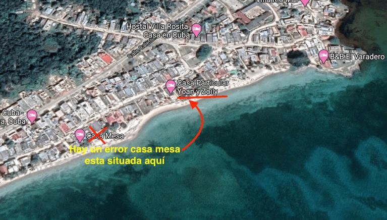 Mapa de Playa Larga