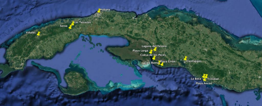 Mapa Cuba Occidente