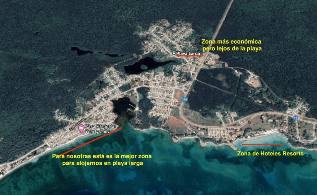 Mapa Playa Larga