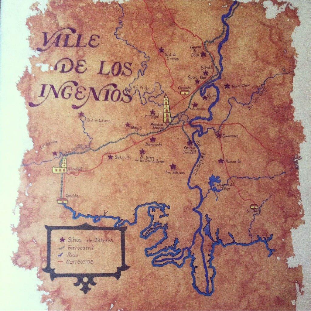 Mapa Valle de los Ingénios