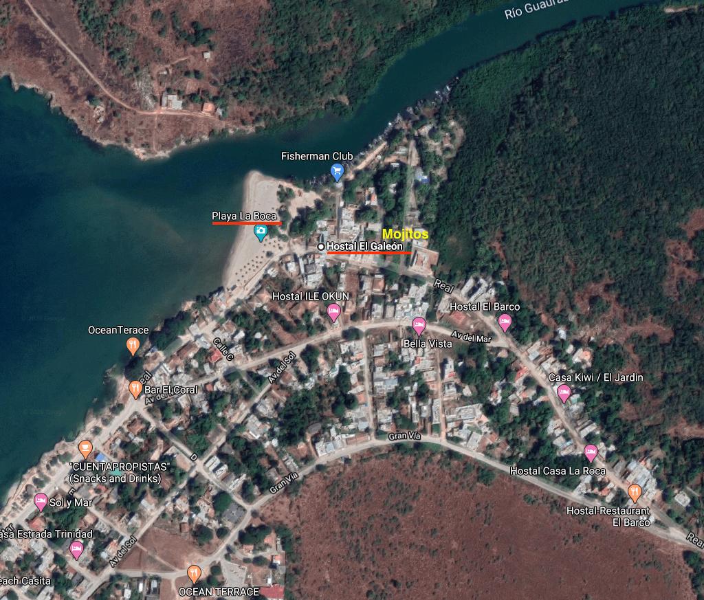 Mapa Playa la Boca